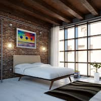 Tracy Wood Bed Frame in Cappuccino Latte