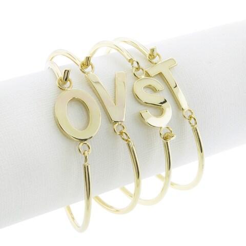 Eternally Haute Goldplated Initial Bangle Bracelet