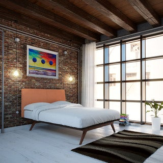 Tracy Wood Bed Frame in Cappuccino Orange