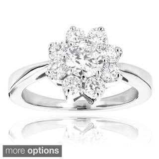 14k Gold Unique Flower 1.2ct Diamond TDW Engagement Ring (G-H, VS1-VS2)