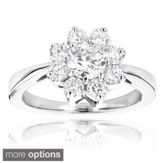 14k Gold Unique Flower 1.2ct Diamond TDW Engagement Ring (More options available)