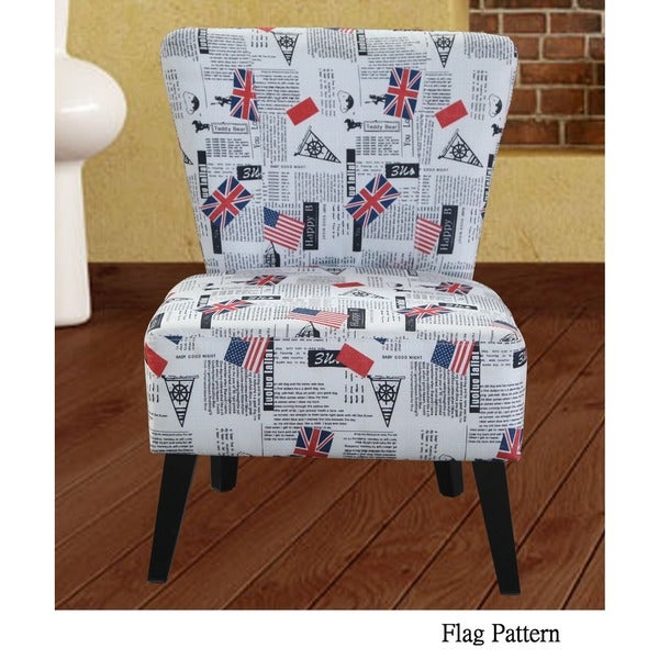 Cora Patterned Fabric Accent Chair   Free Shipping Today   Overstock.com    16954780