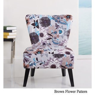 Cora Patterned Fabric Accent Chair
