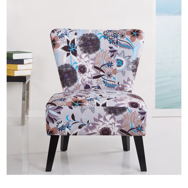 Blue Grey Accent Chair