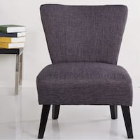 Sadie Slipper Brown Derby Accent Chair Free Shipping
