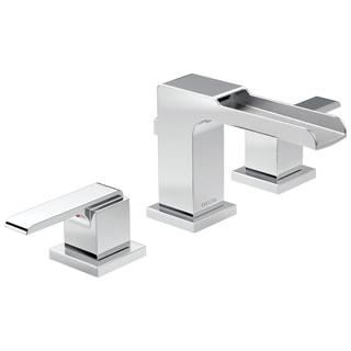 Delta Chrome Ara 2-handle Widespread Lavatory Faucet with Channel Spout