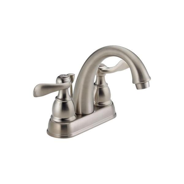 Shop Delta Windemere Brushed Nickel 2 Handle Widespread: Shop Delta Windemere Two Handle Centerset Lavatory Faucet