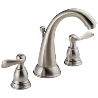 Clearance. Delta Windemere Two Handle Widespread Lavatory Faucet B3596LF-SS Stainless