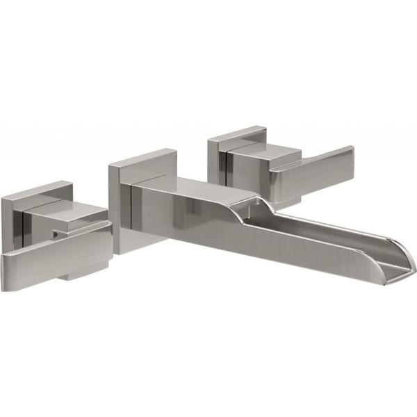 Delta Brilliance Stainless Ara 2-handle Wall-Mount Lavatory Faucet ...