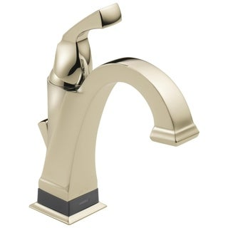 Delta Polished Nickel Dryden Single-handle Centerset Lavatory Faucet with Touch20 Xt Technology