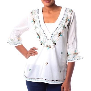 Handmade 'Rajasthani Muse' Cotton Tunic (India)