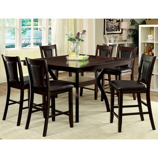 Furniture of America Dionne Dark Cherry 7-piece Counter Height Dining Set