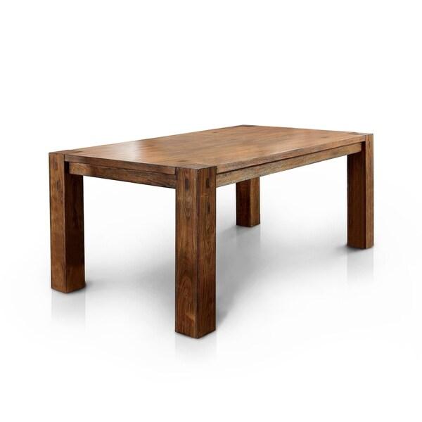 Clarks Dark Oak Farmhouse Style Dining Table By Foa