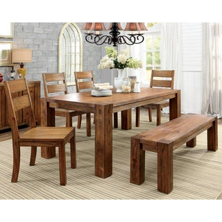 Furniture of America Clarks Farmhouse Style 6-piece Dining Set
