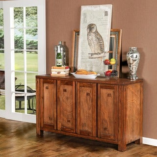 Furniture of America Maiz Rustic Oak 58-inch Solid Wood Dining Server