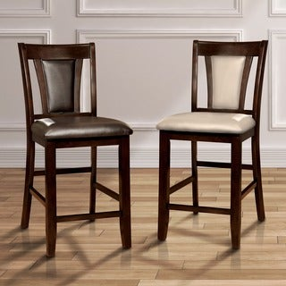 Furniture of America Dionne Dark Cherry Counter Height Stool(Set of 2)