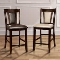 Copper Grove Hyacinth Dark Cherry 25.75-inch Counter Height Stool (Set of 2)