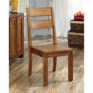 Furniture of America Clarks Farmhouse Style Dining Chair (Set of 2)