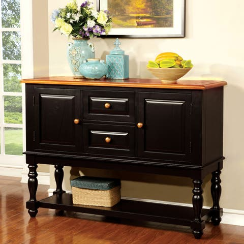 The Gray Barn Oak Glen Two-tone Country Style Dining Buffet