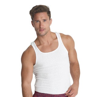 Hanes Men's Traditional Fit ComfortSoft Tagless A-Shirt (Pack of 3)