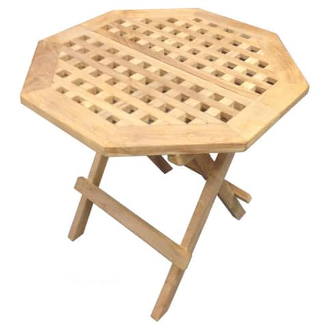 Handmade D-Art Teak Octagonal Outdoor Picnic Table (Indonesia)