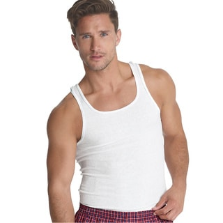 Hanes Classics Men's White Cotton A-shirts (Pack of 7)
