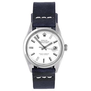 Pre-Owned Rolex Men's White Dial Blue Strap Datejust Watch|https://ak1.ostkcdn.com/images/products/9787065/P16956002.jpg?impolicy=medium