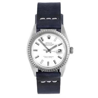 Pre-owned Rolex Men's Stainless Steel 1600 Datejust Blue Strap Watch|https://ak1.ostkcdn.com/images/products/9787068/P16956005.jpg?impolicy=medium