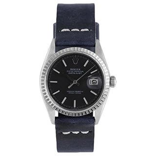 Pre-Owned Rolex Men's Blue Strap Black Dial Fluted Bezel Datejust Watch|https://ak1.ostkcdn.com/images/products/9787088/P16956023.jpg?impolicy=medium