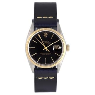 Pre-Owned Rolex Men's Two-tone 1600 Datejust Blue Leather Fluted Bezel Watch|https://ak1.ostkcdn.com/images/products/9787097/P16956031.jpg?impolicy=medium