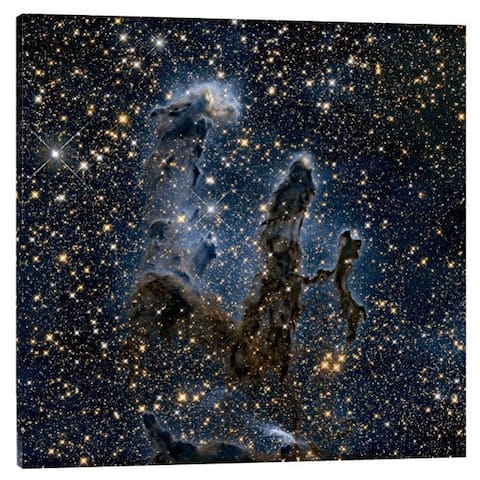 Global Gallery NASA 'A Near-Infrared View of the Pillars of Creation' Stretched Canvas Artwork