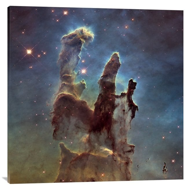 Global Gallery Nasa 2014 Hubble High Definition M16 Pillars Of Creation Stretched Canvas Artwork Overstock 9787103