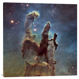 Big Canvas Co. NASA '2014 Hubble High Definition M16 - Pillars of Creation' Stretched Canvas Artwork