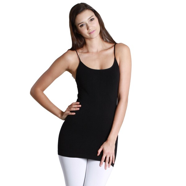 cef8b7fd40360 Nikibiki Women  x27 s Model NS4011 Nylon and Spandex Seamless Signature  Long Camisole Top