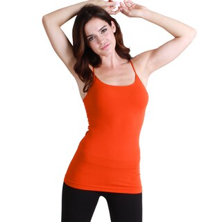 Nikibiki Seamless Signature Long Camisole Top (Option: Orange)