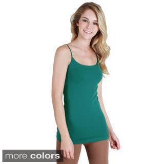 Nikibiki Seamless Signature Long Camisole Top with Color Choices|https://ak1.ostkcdn.com/images/products/9787468/P16956356.jpg?impolicy=medium