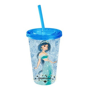 Disney's Princess Jasmine Glitter Acrylic Travel Cup