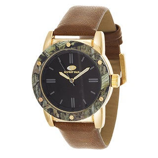 Mossy Oak Men's Analog All Terrain Field Infinity Gold Brown Frontier Watch