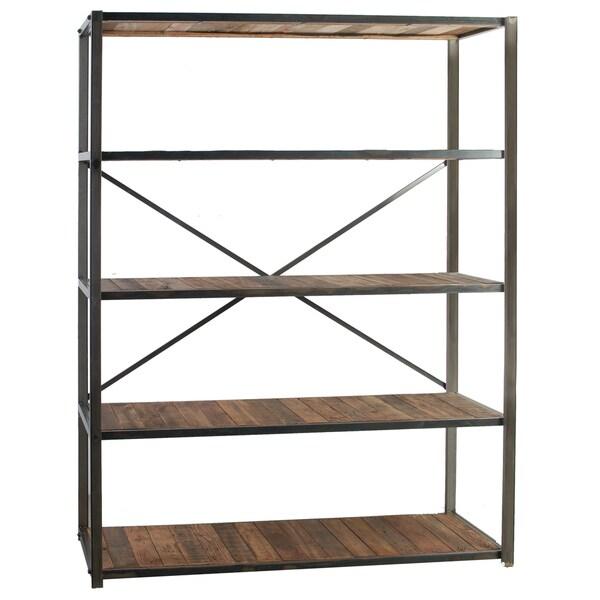 Liso Four Tiered Metal And Wood Bookshelf