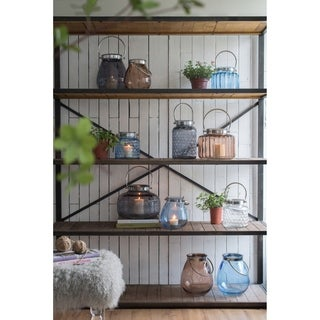 Liso Four-tiered Metal and Wood Bookshelf