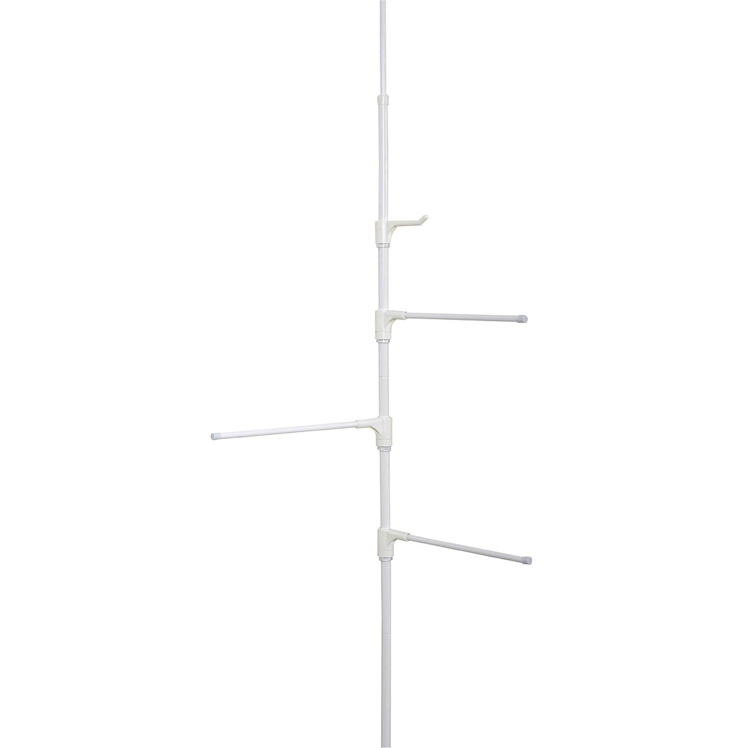 Zenith Zenna Home Tension or Hinge Mount Pole Towel Caddy...