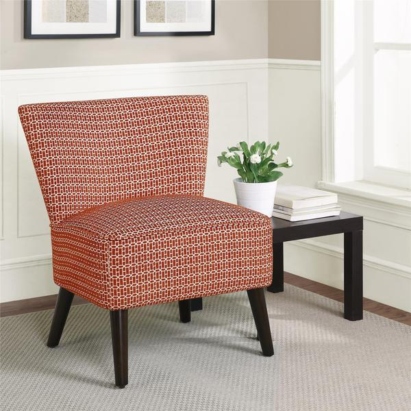 Shop Dorel Living Kinsley Armless Red Accent Chair Free
