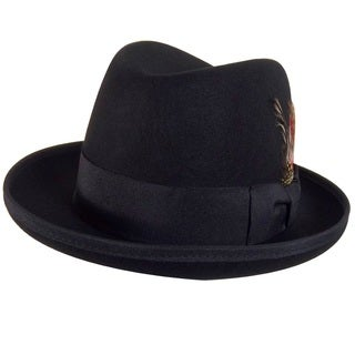 Godfather Gangster Feather Black Fedora Hat