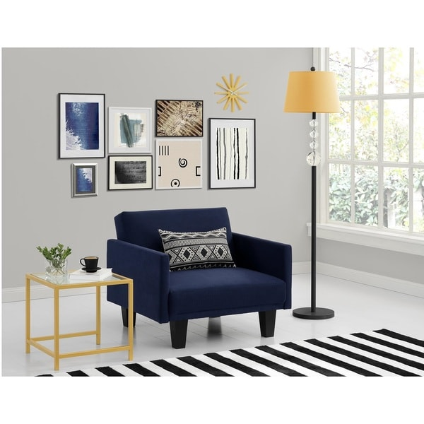 Shop Dhp Metro Navy Blue Futon Chair Free Shipping Today
