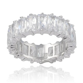 Journee Collection Sterling Silver Cubic Zirconia 7 mm Engagement Band