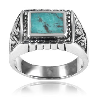 Vance Co. Sterling Silver Men's Turquoise Ring