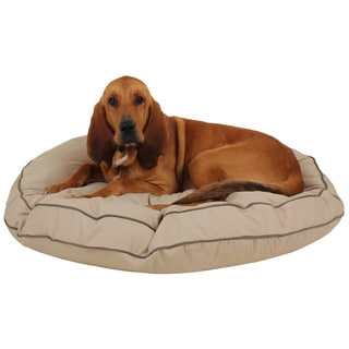 Carolina Pet Co. Cotton Canvas Round-A-Bout Dog Bed