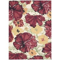 Nourison Vista Ivory/ Red Accent Rug (2'6 x 4')