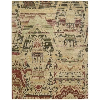 Nourison Dune Earth Wool Area Rug (5'6 x 8')