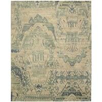 Nourison Dune Sea Wool Area Rug - Blue - 5'6 x 8'